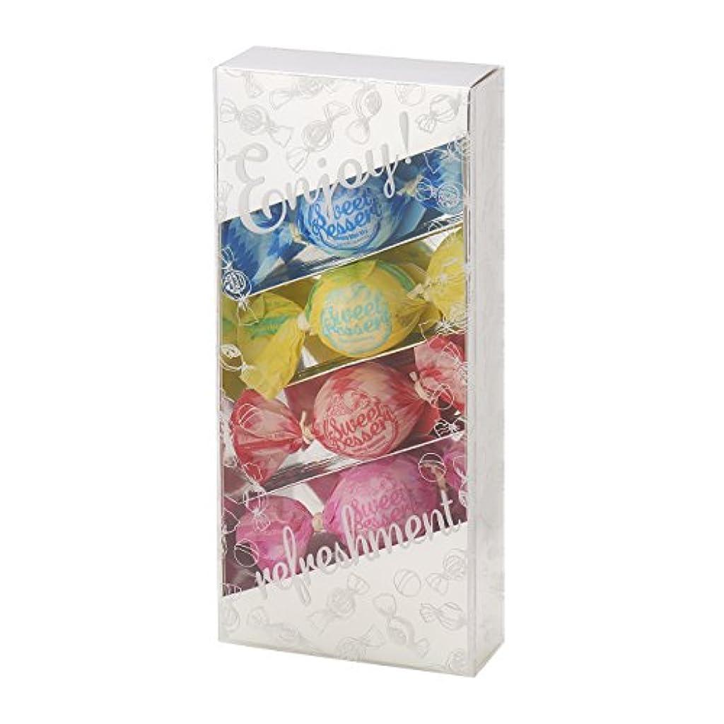 混乱したパッケージ浸すアマイワナ バスキャンディー4粒ギフトセット(35g×4個) シルバー(発泡タイプ入浴料 バスギフト)