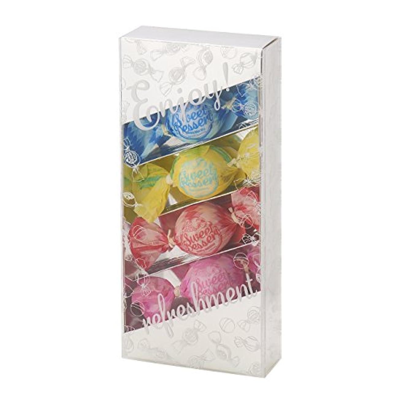 氏使用法蒸留するアマイワナ バスキャンディー4粒ギフトセット(35g×4個) シルバー(発泡タイプ入浴料 バスギフト)