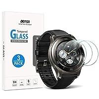 OOTSR(3D硬度)[クリスタルクリア] [アンチスクラッチ] [ノーバブル](3回の硬度)[3日硬度] [3日硬度] [3日硬度] [3日の防水強化ガラススクリーンプロテクター、ファーウェイウォッチ2 /ウォッチ2スポーツ/ [並行輸入品]