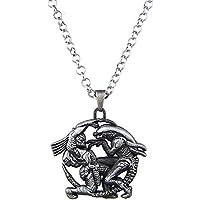 Lureme Vintage Jewelry Alien vs. Predator Pendant Necklace for AVP Fans (nl005608)