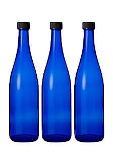 ブルーボトル 3本 720ml ブルーソーラーウォーター ムーンウォーター作りに