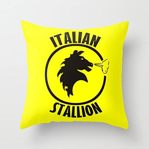 背当てクッションカバー イタリアの種馬 45×45cm レッド 正方形 アジアン 女の子 角型 おしゃれ インテリア プレゼント 背当て 上品 モダン 綿 枕カバー