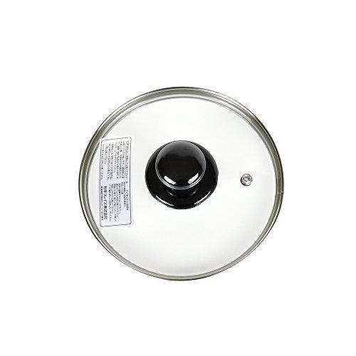 強化ガラス 蓋 16cm フライパン 鍋 兼用  吹きこぼれ防止用蒸気穴付き 和平フレイズ PR-8569