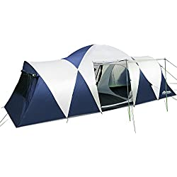 Weisshorn Family Camping Tent Dome Canvas Swag Hiking Beach 12 Person 2 Rooms Backpacking Picnic Tent for Sale Camping Gear Outdoor Equipment Shelter with Carry Bag