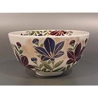 茶道具 抹茶茶碗  色絵 桔梗画 D-10、京焼 相模竜泉作