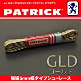 PATRICK パトリック スニーカー細紐5mm平幅タイプ シューレース110cm GLD ゴールド