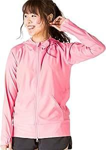 ICEPARDAL(アイスパーダル) 全20色 レディース 無地 ラッシュガード パーカー IR-7100 コーラル W3Lサイズ UPF50 + 長袖 ラッシュパーカー 指穴つき 体型カバー 女性用 水着 おしゃれ かわいい 人気 コーラルピンク 大きいサイズ