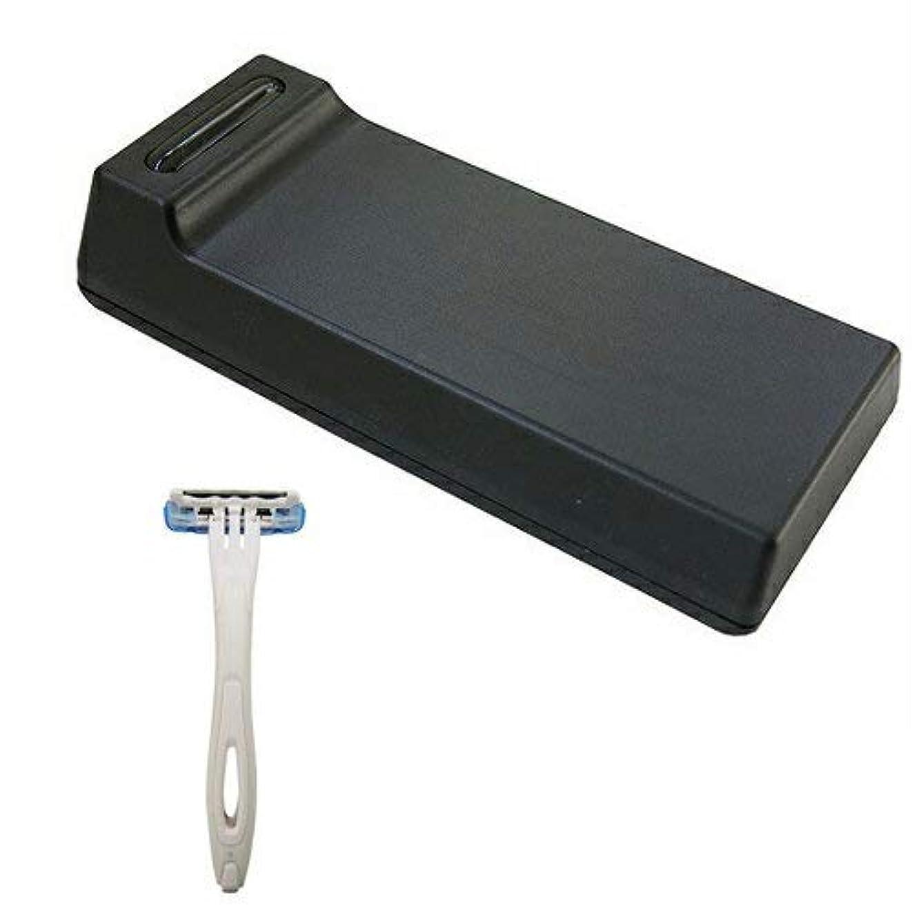 使用法ビュッフェスキルCannelle カミソリ刃クリーナー BladeTech ブレードテック + 貝印 使い捨てカミソリ3枚刃