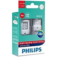 PHILIPS(フィリップス) テールランプ ストップランプ LED バルブ T20シングル (W21W) レッド 12V 2.7W アルティノン Ultinon LEDシリーズ 2個入り 11065ULRX2