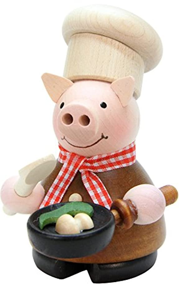 石膏ランドリー歌手Christian Ulbricht Incense Burner - Lucky Pig Chef - 4.5H x 3W x 3.5D