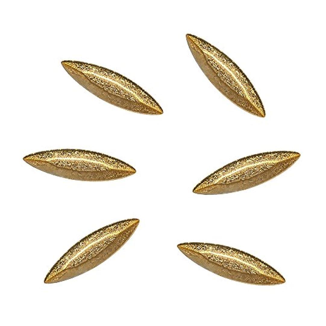 相互接続真空降伏Bonail&RieNofuji ネイルパーツ Diamant Leaf Gold 6P