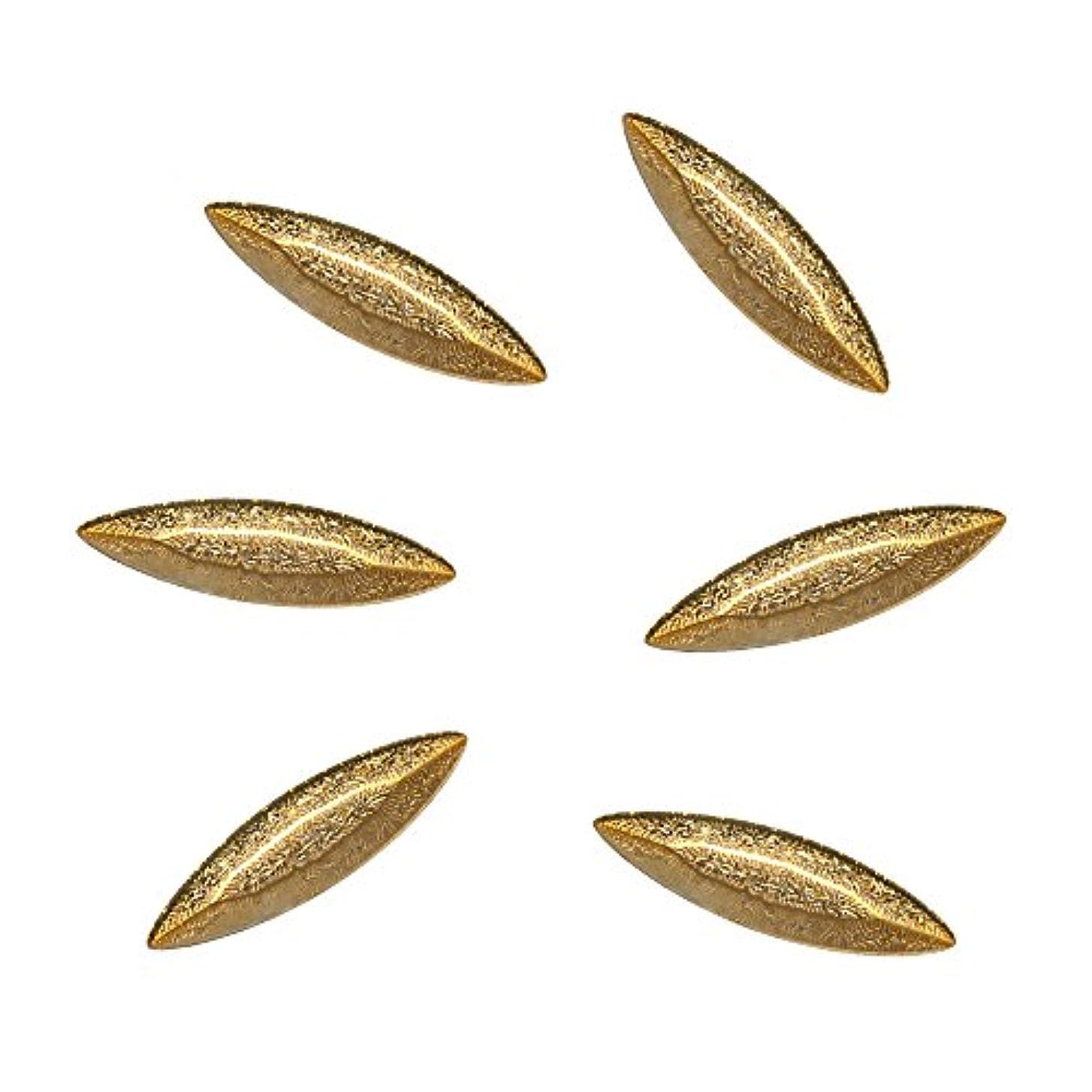 必要としている台風ポーンBonail&RieNofuji ネイルパーツ Diamant Leaf Gold 6P