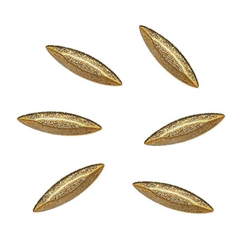 さびた番目費やすBonail&RieNofuji ネイルパーツ Diamant Leaf Gold 6P