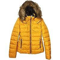Zara Women Hooded Down Puffer Jacket 8073/223 Yellow