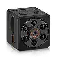 KCOOL 超小型 カメラ ミニカメラ 隠し スパイカメラ 防犯 監視 1920*1080P 高画質 暗視機能 動体検知 長時間録画 【日本語説明書付】 (black1) (black)