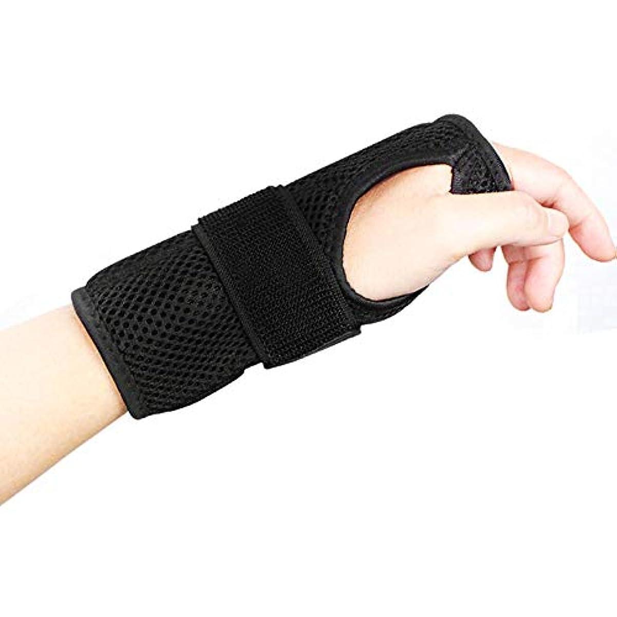 化粧盗難手段手首サポートブレーススプリントは、怪我、スポーツ、ジム、繰り返しの緊張などのために医学的に承認された調整可能な弾性ブレースです デザイン,Righthand,M
