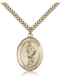 フロリアヌスペンダント – ゴールドメッキフロリアヌスペンダントIncluding 24インチネックレス