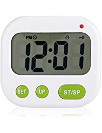 目覚まし時計 置時計 デジタル 置き時計 多機能 タイマー 2組アラーム 12時間制/24時間制切替式電子メロディ曲 ロック機能付き 携帯しやすい 大音量 ポケット