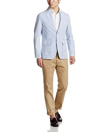 Seersucker 3-button Jacket 14010312001310: Blue
