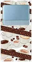 ガラスフィルム 付 ベイシオ スリー BASIO3 au TPU ソフトケース コーヒーとコーヒー豆 スマホケース スマホカバー デザインケース