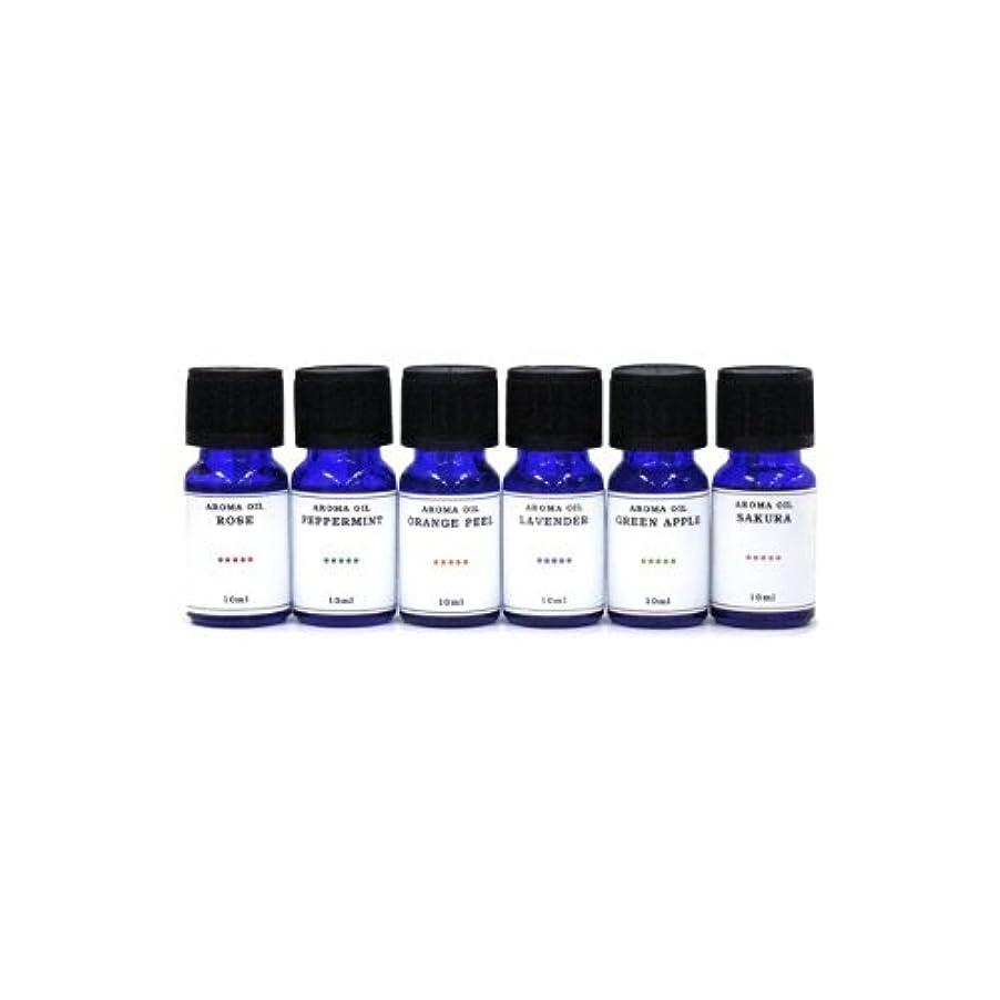 襲撃受粉者証言する水溶性アロマオイル 6種の香りセット ラベンダー/ペパーミント/オレンジピール/サクラ/グリーンアップル/ローズ