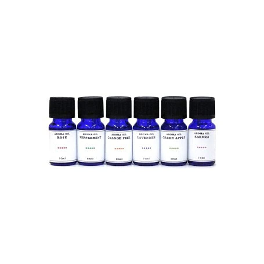 松の木厚さマリナー水溶性アロマオイル 6種の香りセット ラベンダー/ペパーミント/オレンジピール/サクラ/グリーンアップル/ローズ