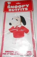 "海外直輸入品 正規品 スヌーピー おもちゃ フィギア ぬいぐるみ Rare! Peanuts Snoopy's Wardrobe Outfit for 11"" Plush Snoopy - Red Preppy Shirt w Snoopy Logo【JOY】"