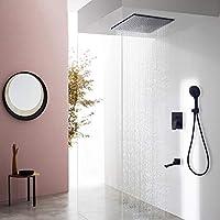 LJ ヨーロッパのバスルーム隠しシャワーシステム、ファイン銅レインシャワーヘッド、3機能ハンドシャワー、多機能蛇口 (サイズ さいず : 10-inch)