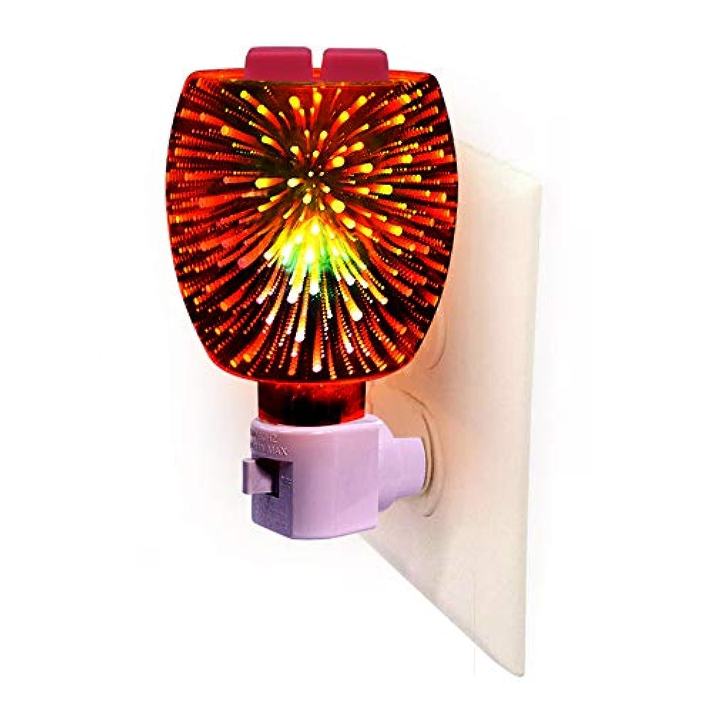 鮮やかな治すジョージハンブリー3D Glass Pluggable Fragrance Warmer- Decorative Plug-in for Warming Scented Candle Wax Melts and Tarts or Essential...