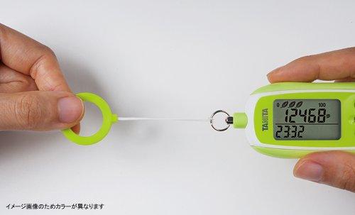 タニタ 3Dセンサー搭載歩数計 防犯ブザー付き FB736 パープル