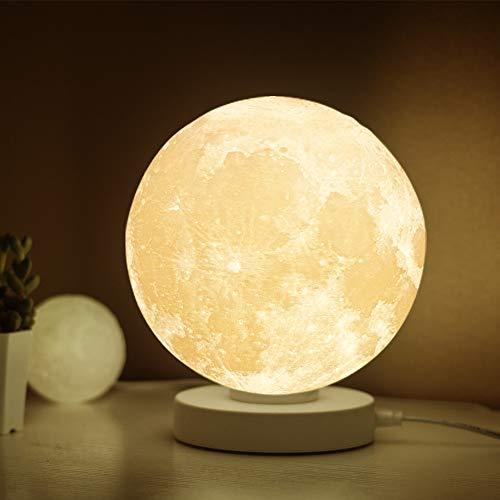 K&G 月 あかり ナイトライト WIFI スマート 月のランプ 3Dプリント インテリア間接照明 ベッドサイドランプ テーブルランプ 月ライト 夜間ライト音声制御 app制御 Android/IOS モバイル スマホ App 調光調色