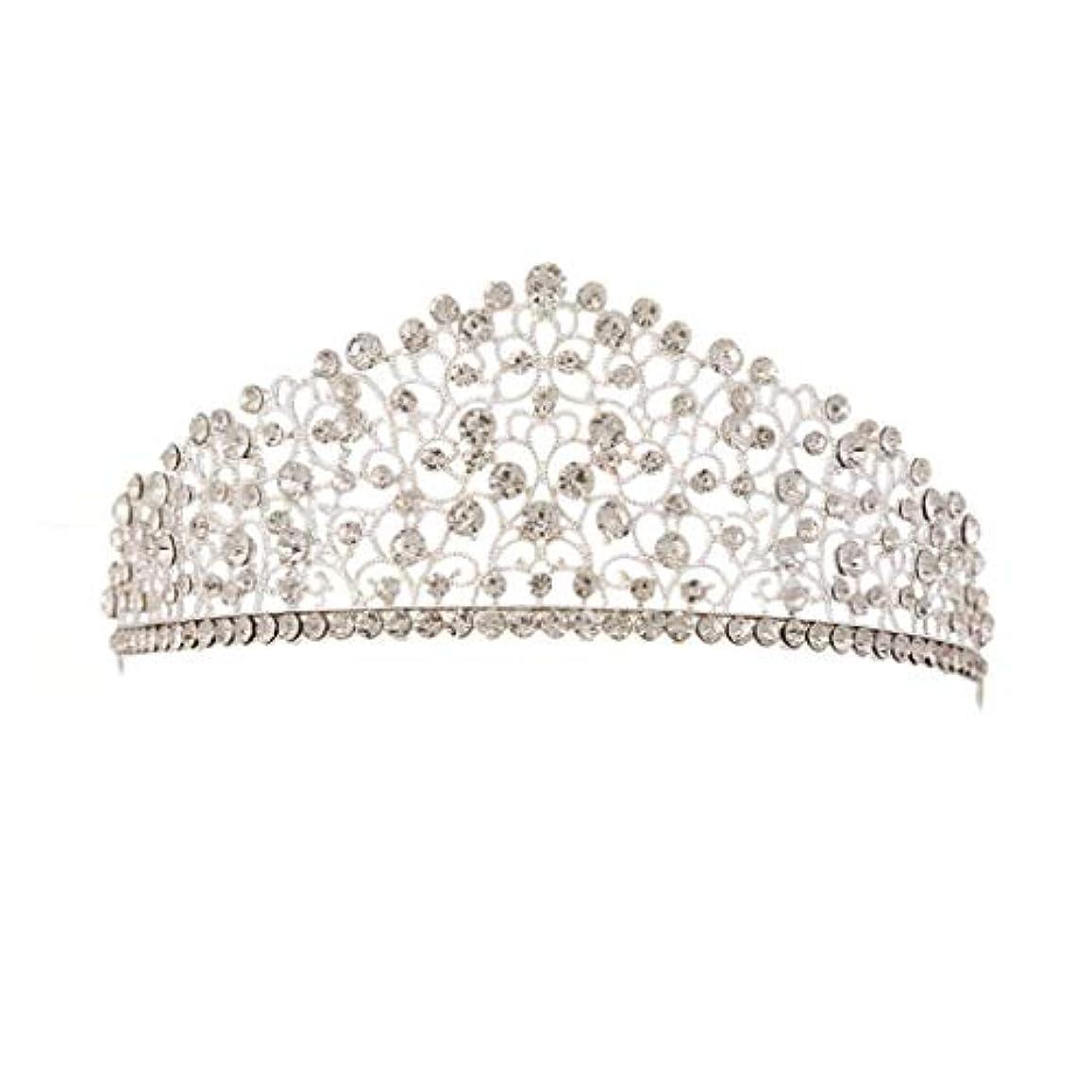 わざわざ段落推定する花嫁のクラウンウェディングティアラプリンセスヘアバンドクリスマスの贈り物ウェディングアクセサリー (Color : Crown, Size : S)