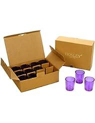 Hosley's Set of 24 Purple Glass Votive/Tea Light Holders. Ideal for Weddings, Parties, Spa & Aromatherapy, Votive...