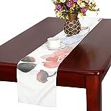 GGSXD テーブルランナー 面白い 白いうさぎ クロス 食卓カバー 麻綿製 欧米 おしゃれ 16 Inch X 72 Inch (40cm X 182cm) キッチン ダイニング ホーム デコレーション モダン リビング 洗える