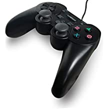 GAMEMON Double Vibration Wired Controller Compatible with Playstation 3 PS3 with 3M/10FT Long Cable