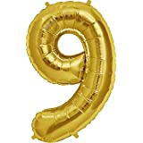YIGO ちょうど良い大きさ 数字バルーン ゴールド 誕生日 ウェディング パーティーに (9)