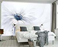 Ansyny 写真の壁紙3Dファッション花白壁画3D壁紙リビングルームの寝室のソファの壁紙-160X120CM