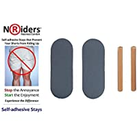 NoRiders 3-inch Self-adhesive Stays with Patches [6-Pack]