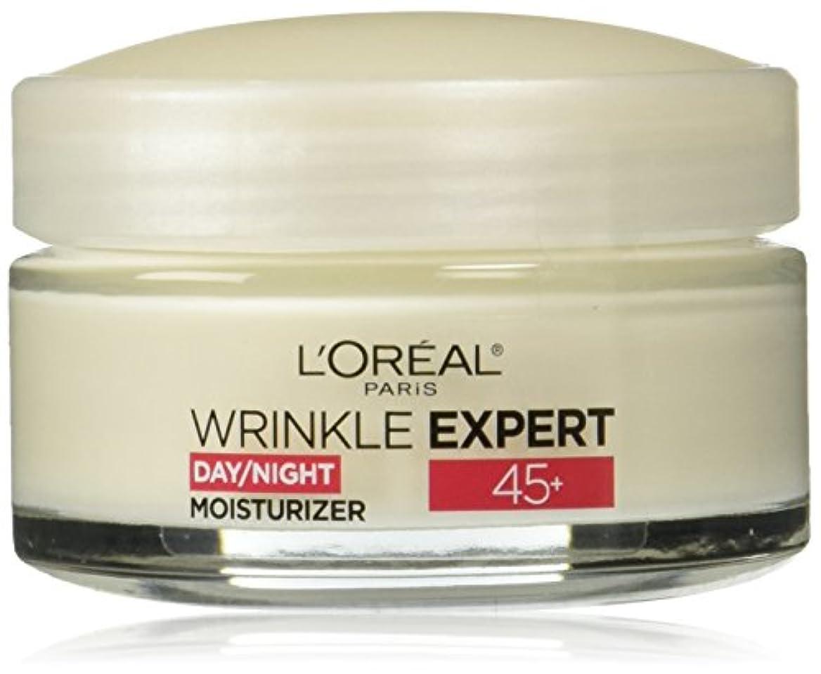 アンソロジー調停する純粋にLOREAL Paris Wrinkle Expert 45+ Day/Night Moisturizer - 1.7 oz(48g) ロレアル リンクルエキスパート45+