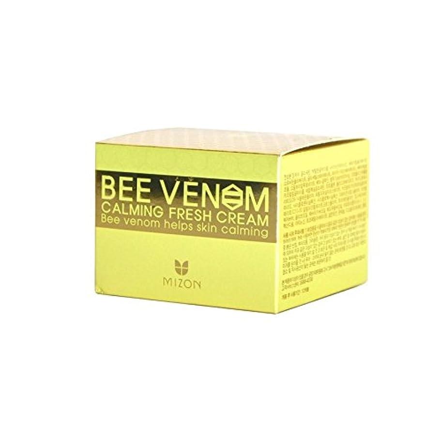 傘工業化する野ウサギ生クリームを落ち着かせるのハチ毒 x4 - Mizon Bee Venom Calming Fresh Cream (Pack of 4) [並行輸入品]