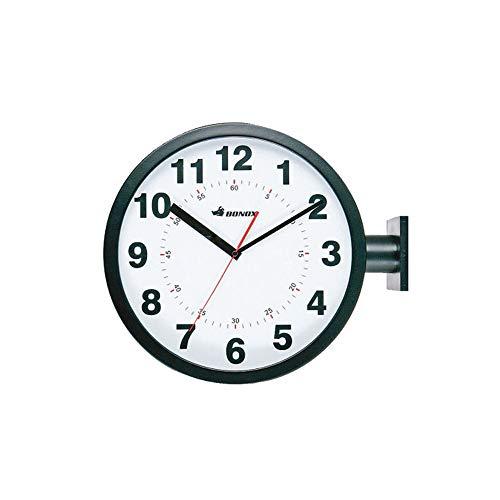 RoomClip商品情報 - ダルトン 掛け時計 ブラック W44.5×D13×H38cm ダブルフェイス ウォールクロック S82429BK