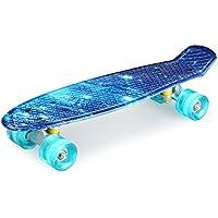 enkeeo スケートボード 22インチ クルーザー ABEC7製ベアリング 高精度 集中力や平衡感覚育成 スケボー初心者におすすめ 大人/若者/子供用 誕生日プレゼントなどに YWHB-27【メーカー保証】