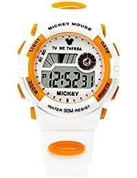 ディズニー 腕時計 デジタル 50M 防水 アラーム ストップウオッチ ミッキー うで時計 ホワイトオレンジ ミッキーマウス DISNEY 170080ST [並行輸入品]