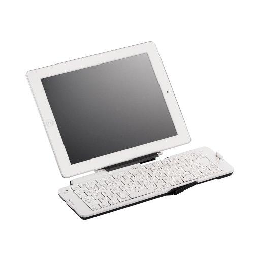 iBUFFALO iPadmini,iPad(Retinaディスプレイ),iPhone5対応Bluetooth(R) 3.0対応 折りたたみキーボード「ポメラ」用キーボード採用モデル BSKBB03WH
