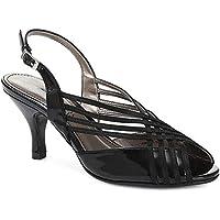 NJSDHEVS Slingback Dressy Sandal with Glitter Straps
