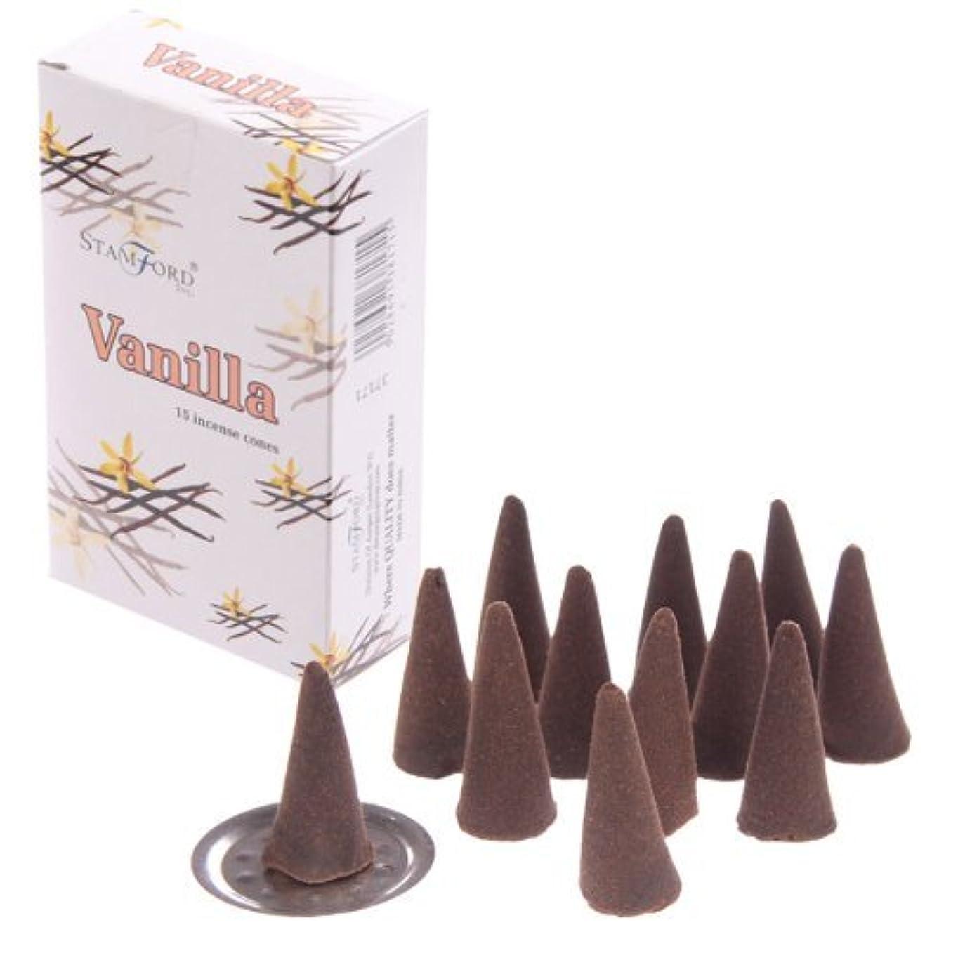 ベッツィトロットウッド注釈マラドロイトStamford Incense Cones - Vanilla 37171 by Puckator [並行輸入品]