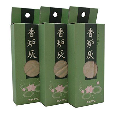[해외]카메 야마 香?灰 3 개 세트/Kameyama incense burner ash 3 piece set