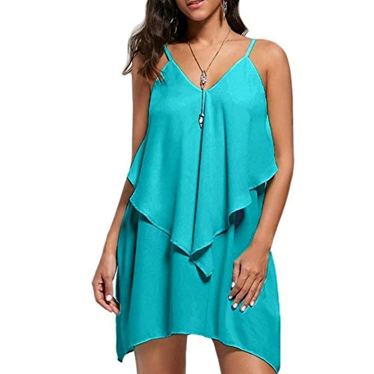 解くタイト槍MIFAN の女性のドレスカジュアルな不規則なドレスルースサマービーチTシャツドレス