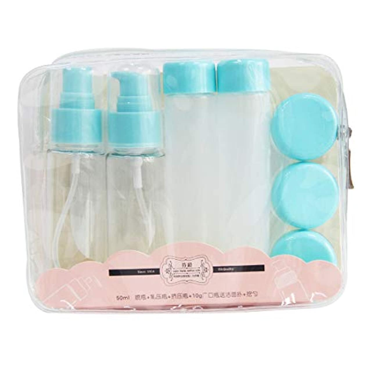 電気陽性ヶ月目鋸歯状MEI1JIA QUELLIA F3766旅行サブパッケージ化粧品ボトルキット(ピンク) (色 : Blue)
