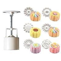 Posmant 新製品 6枚の花のDIYムーンケーキ型 道具 食べ物 かび キッチン ホーム DIY 手作り スライド 实用 ケーキ チョコレート マフィンモールド 可愛い ファッション 人気 装飾ツール ホーム マニュアル